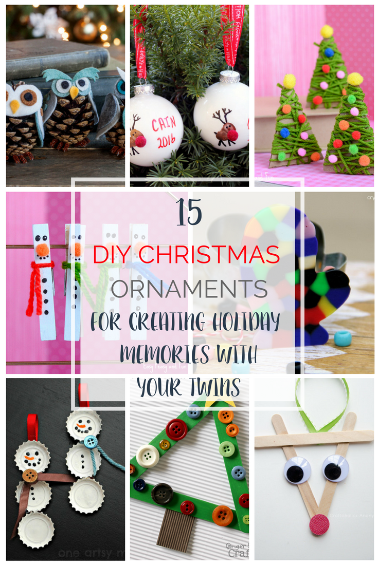 DIY Christmas Ornaments with your Twins